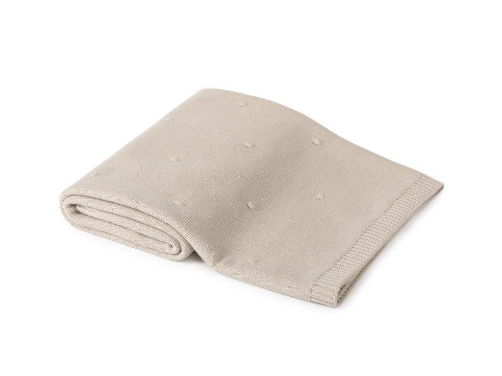 Popcorn bavlnena deka pro specialni prilezitost POOFI piskova barva