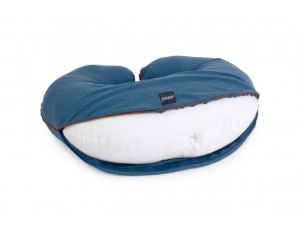 Obal na kojící polštář  ORGANIC & COLOR denim modrý