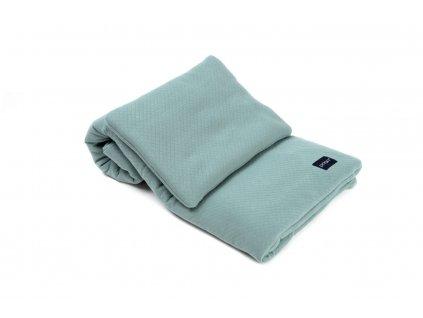 Lozni souprava pro miminko polstar a deka z biobavlny POOFI