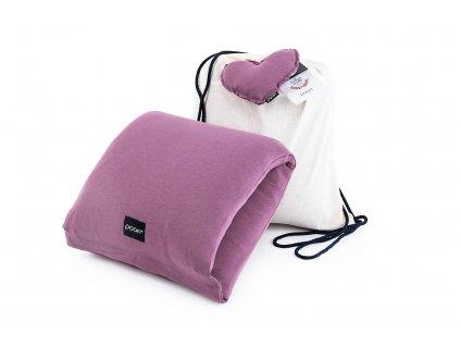 Kojici polstar na ruku z organicke bavlny v barve fialka kojeni je dar