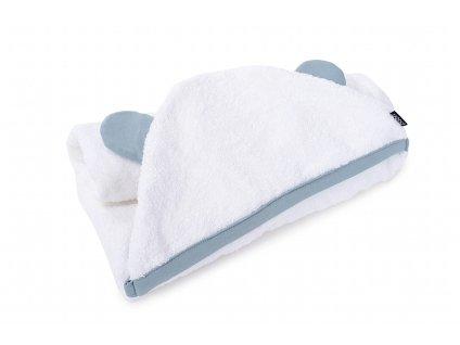 froty rucnik biobavlna pro deti i novorozence Teddy v barve Dusty Blue pro novorozence