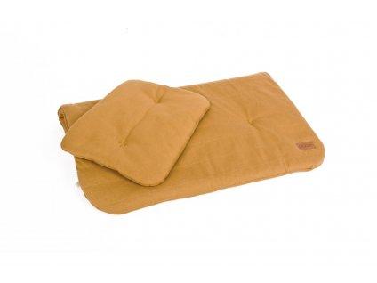 PF303 Podlozka z organicke bavlny horcice med Podsivka 60x70 Polstar 25x30 organicka a barva
