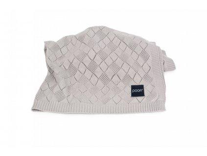 pletena deka openwork seda pro miminko do kocarku od POOFI
