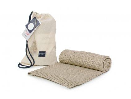 bambusová deka celorocni bambus a bavlna barva capucino