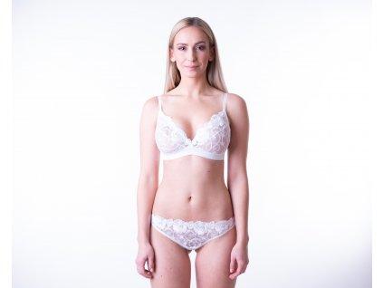 Kompresní krajkové spodní prádlo, 3. fáze, bílá