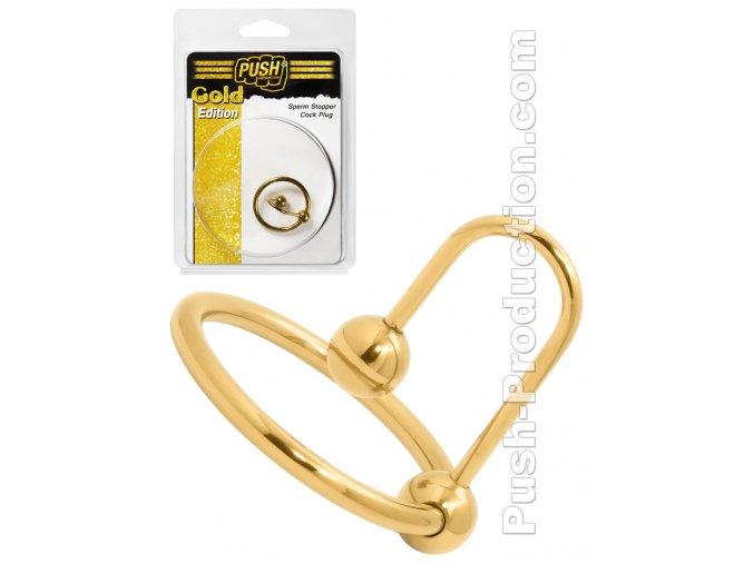 push production sperm stopper cock plug gold edition
