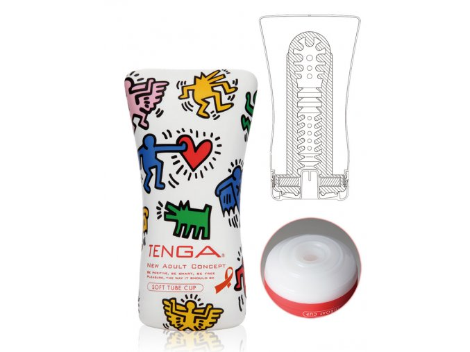 tenga soft tube cup masturbator keith haring design
