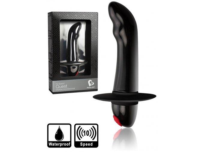 rocks off quest black 10speed anal vibrator plug