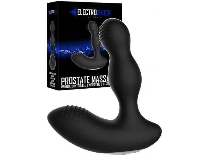 elc019blk prostate massager electro shock remote black