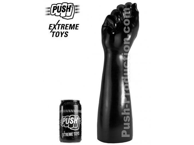 extreme dildo punch xl push toys pvc black mm64