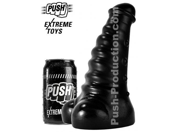 extreme dildo slugger medium push toys pvc black mm68