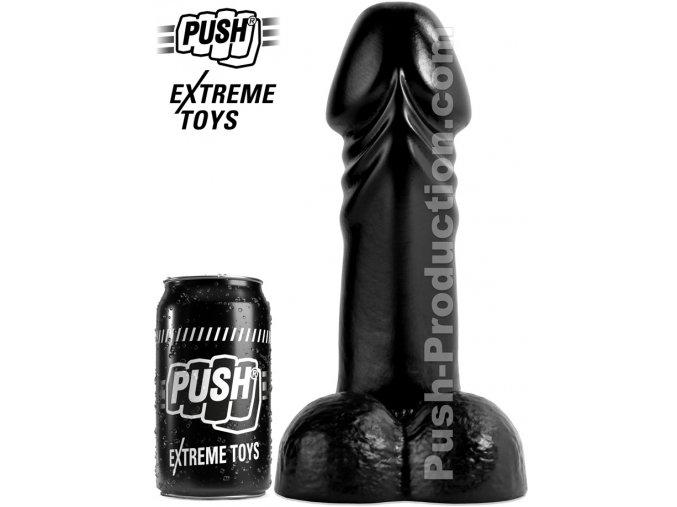 extreme dildo boner push toys pvc black mm56