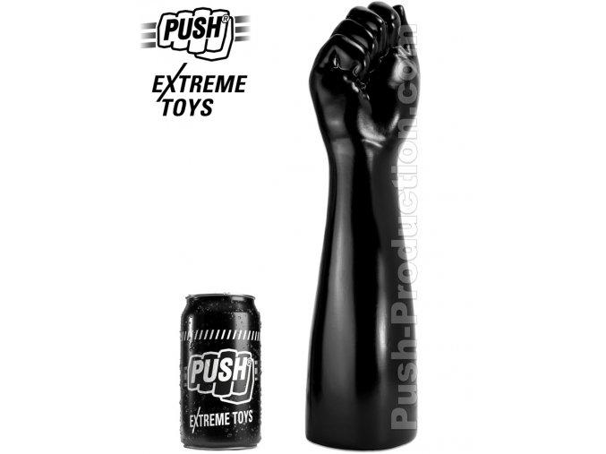 extreme dildo punch medium push toys pvc black mm63
