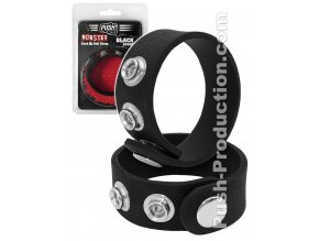 push production monster cock ball strap black rubber