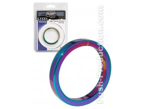 Push Steel - High Polished Rainbow Cockring - 8mm