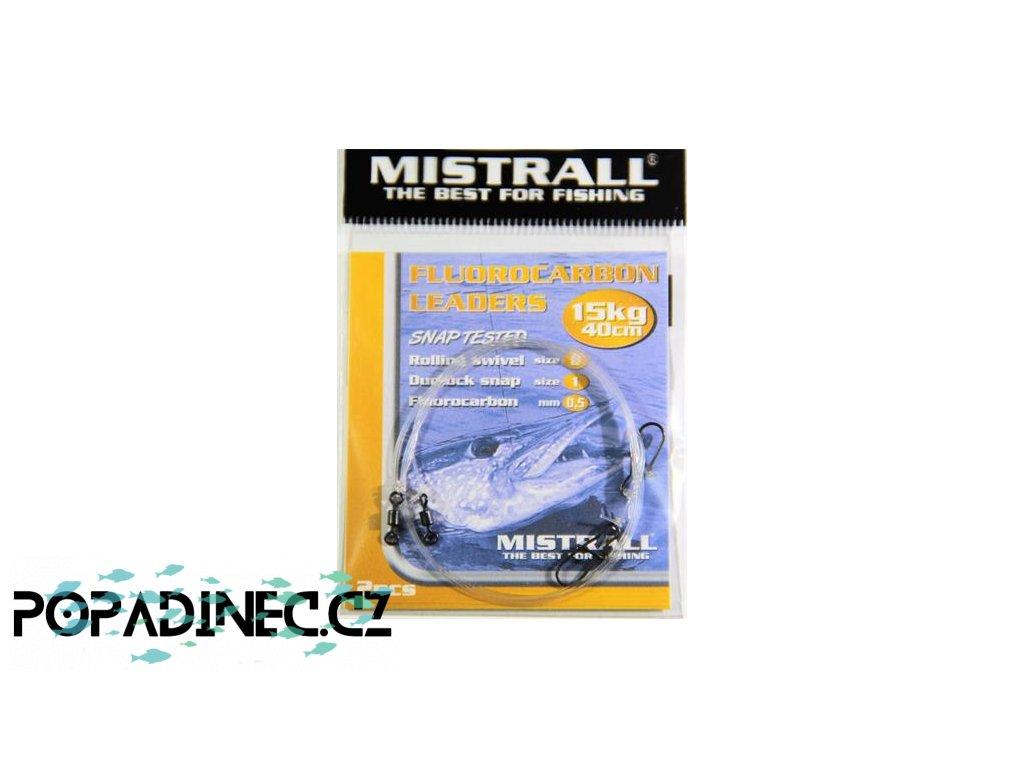 mistrall lanko fluorocarbon 40cm 15kg 2ks i93199