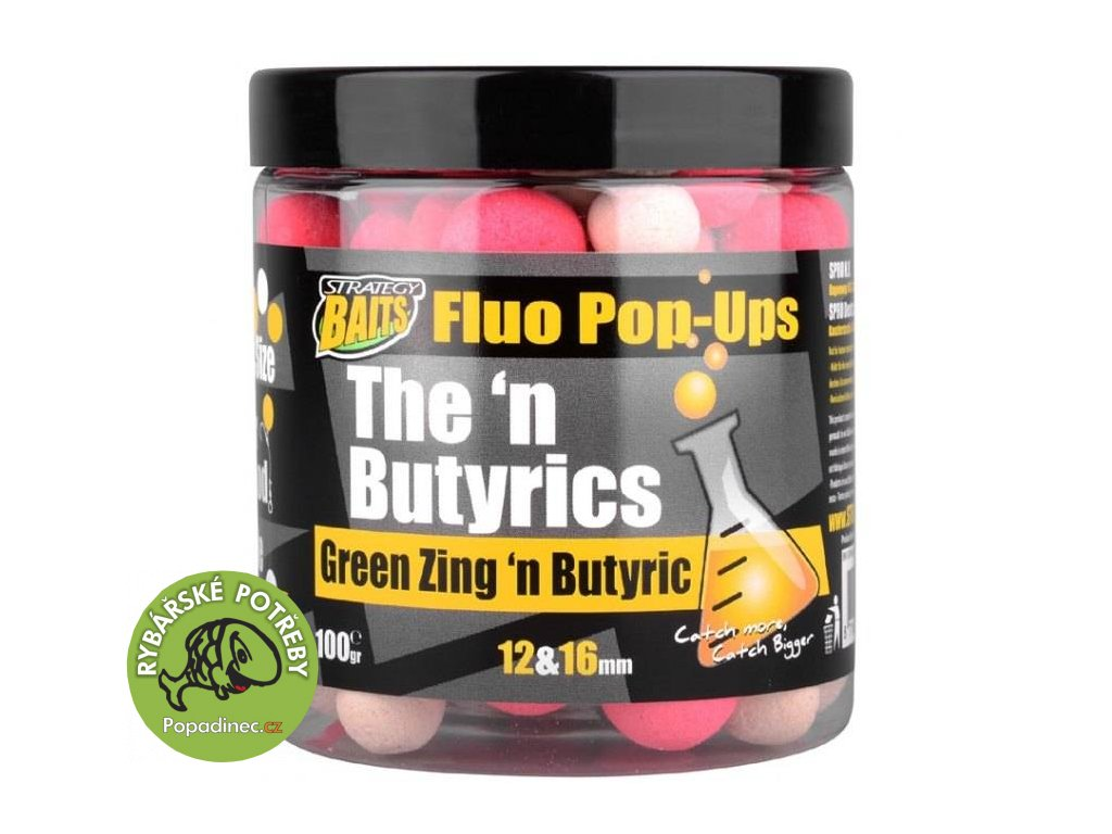 strategy baits plovouci boilies pop16 12 the n butyric 100 g 2