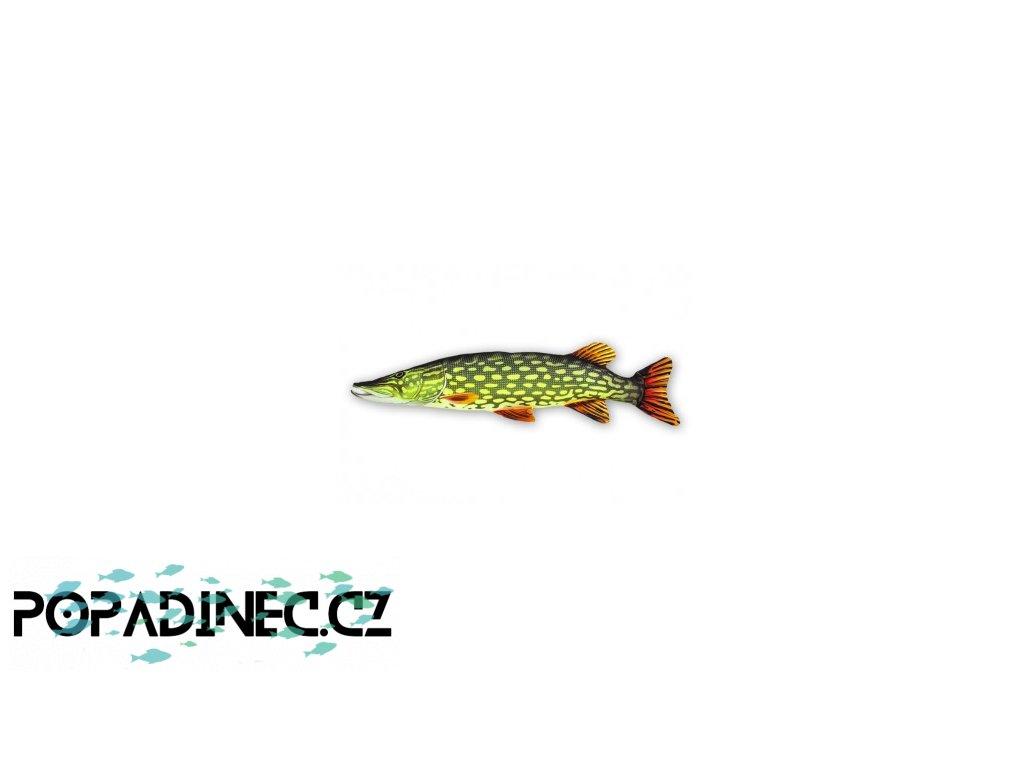 Plyšová ryba Štika 80cm