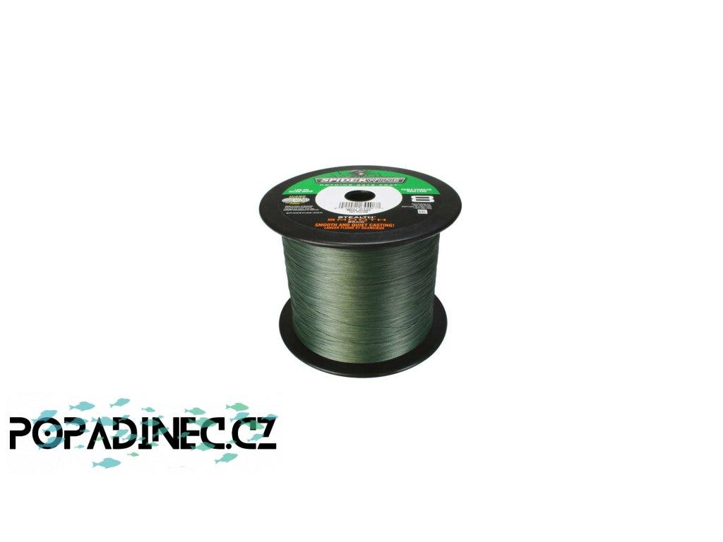 Spider Wire Stealth Smooth 8 Moss Green metráž z navíječky