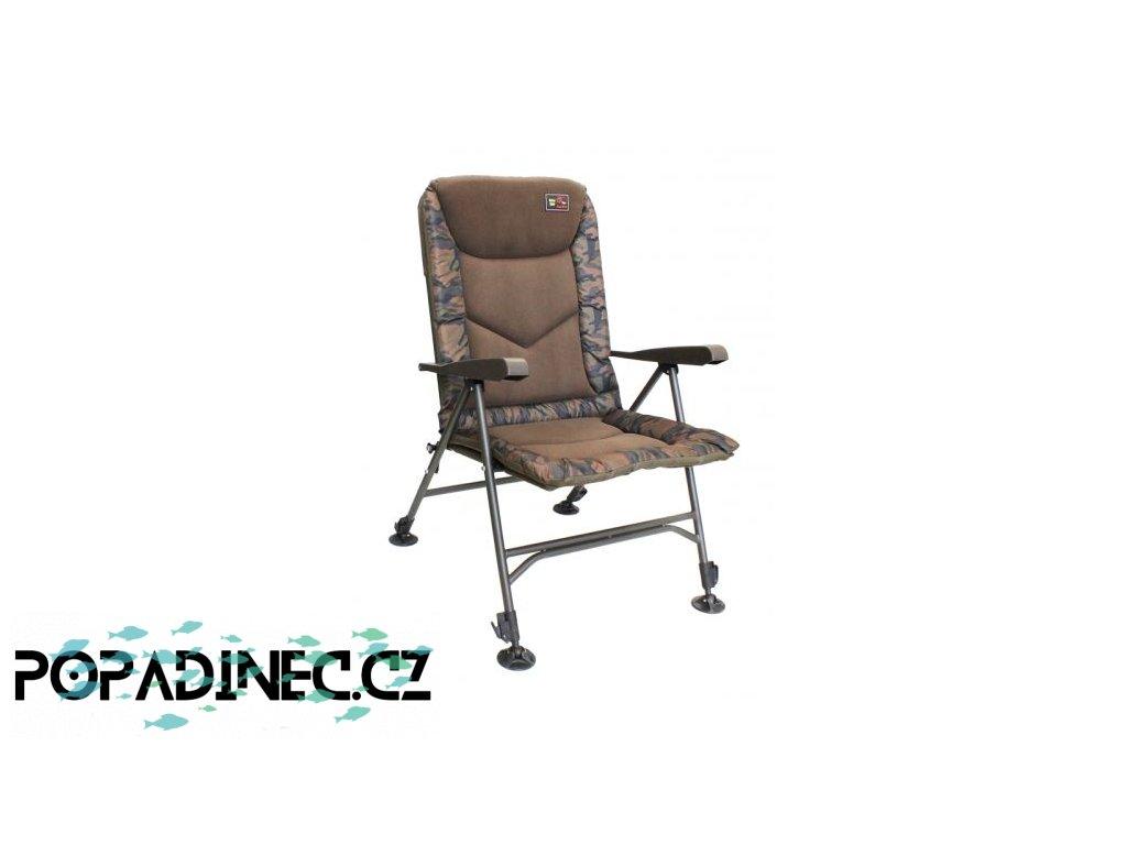 zfish kreslo deluxe camo chair