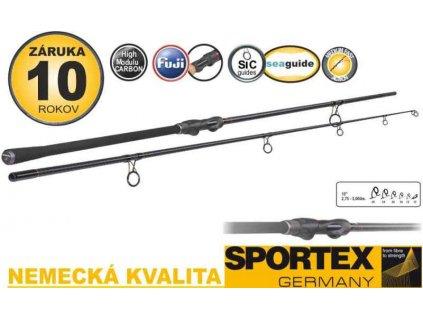 Kaprové pruty SPORTEX Invictus Boat 300cm 2,75lbs 2 díl