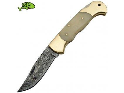 Nůž Damascus Bone délka 19,5cm čepel 8,5cm