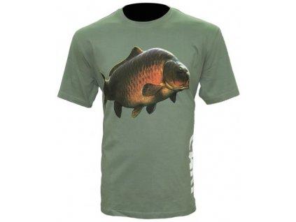Zfish Tričko Carp T-Shirt Olive Green