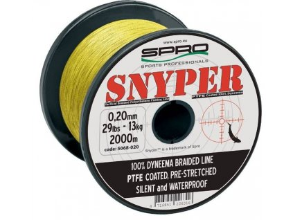 spro spletana snura snyper braid yellow 2000 m