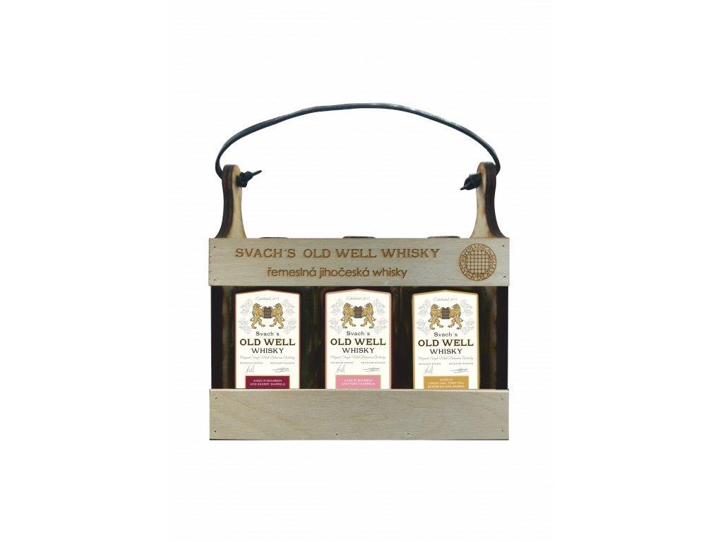 Svach´s Old Well whisky Sada v bedýnce 6x 0,05l