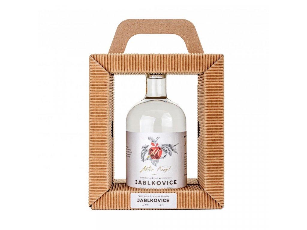 Přírodní dárkové balení rámeček  1 x 0,5 l Slivovice Anton Kaapl
