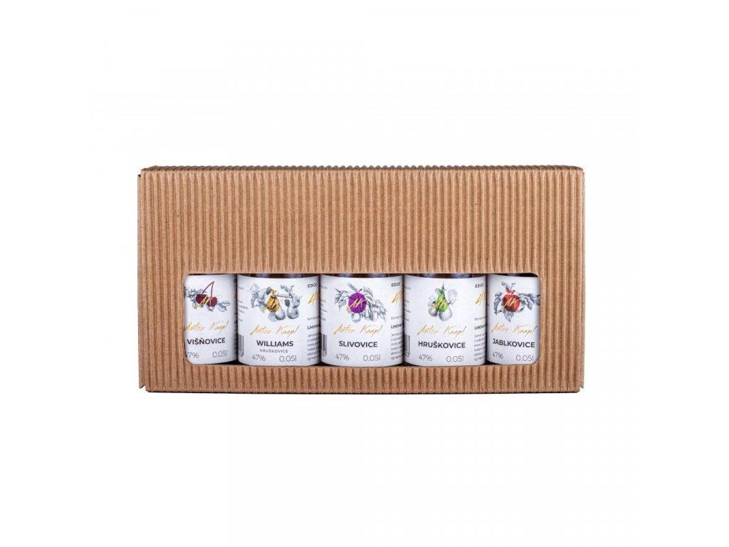 Přírodní dárkové balení krabička 5 x 0,05 l Anton Kaapl
