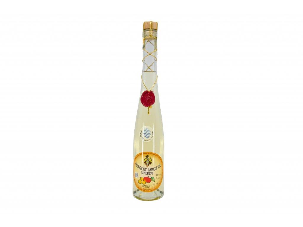 Koštický jablečný destilát s medem 42%