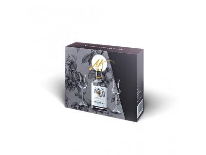 Luxusní dárkové balení 1 x 0,5 l Hruškovice + 2 skleničky Anton Kaapl