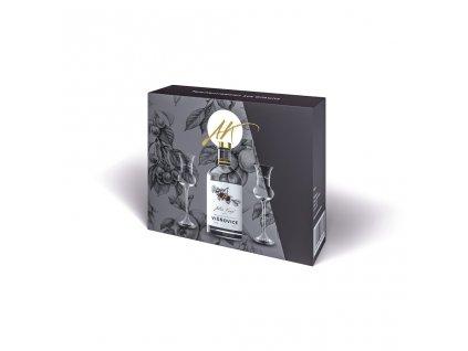 Luxusní dárkové balení 1 x 0,5 l Višňovice + 2 skleničky Anton Kaapl