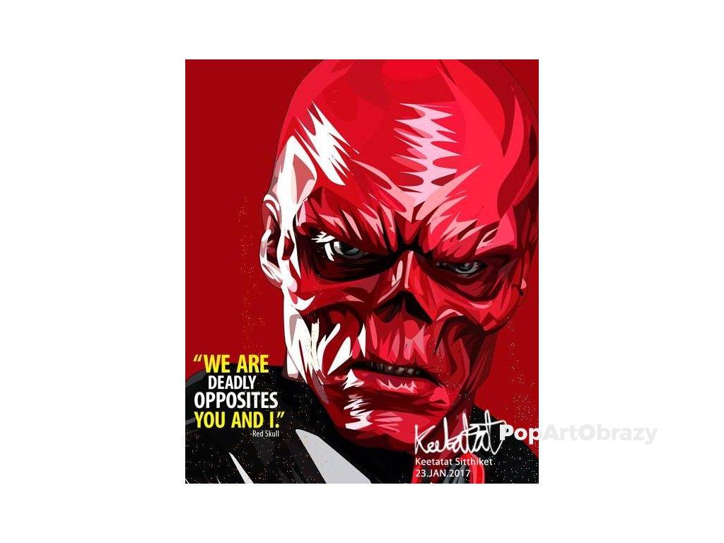 Pop Art Obrazy RED SKULL - popartobrazy.cz