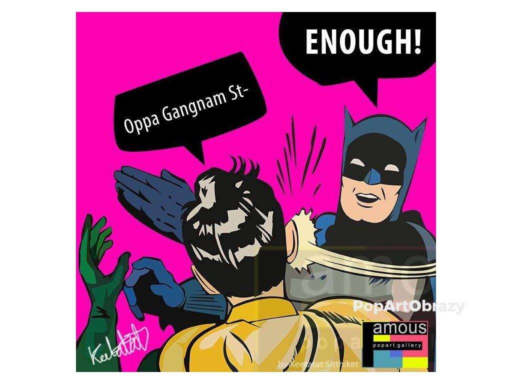 Pop Art Obrazy BATMAN GANGNAM - popartobrazy.cz