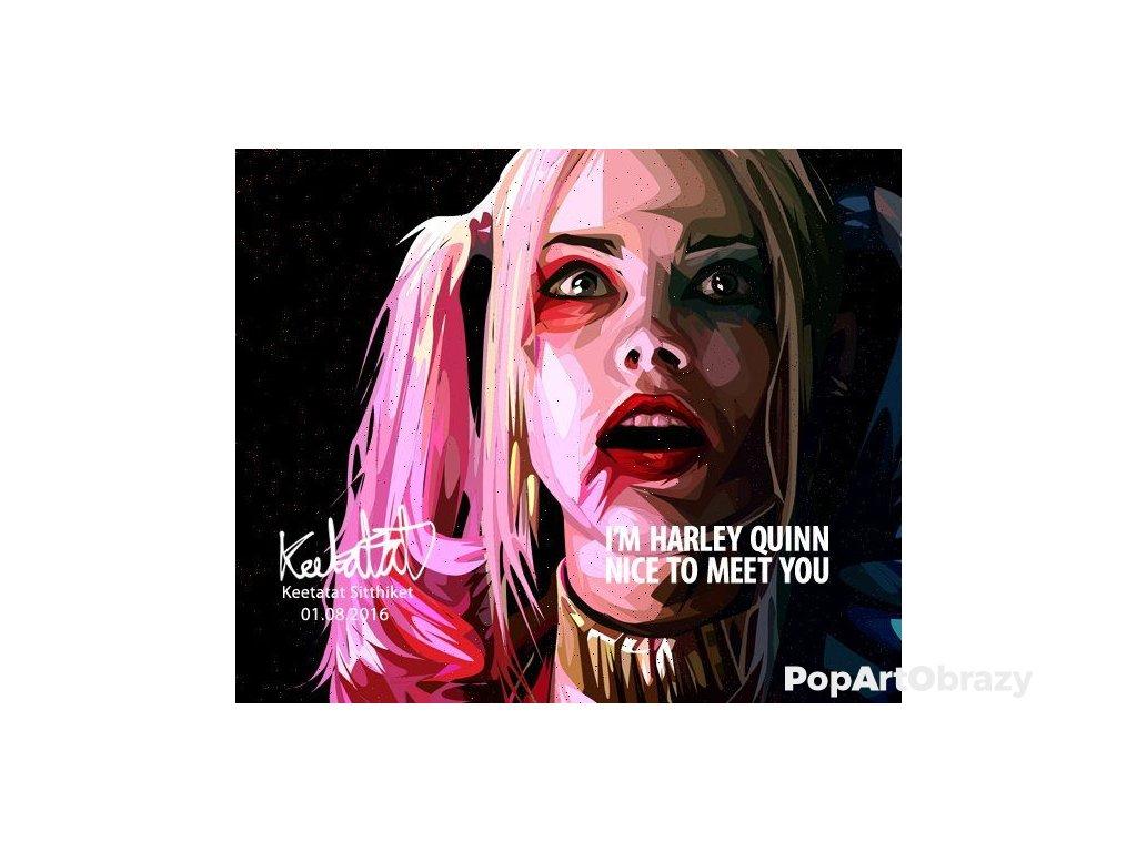 Pop Art Obrazy HARLEY QUINN ver.2/black - popartobrazy.cz