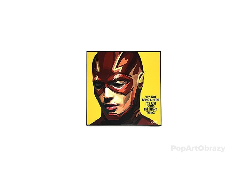 Pop Art Obrazy THE FLASH Yellow - popartobrazy.cz