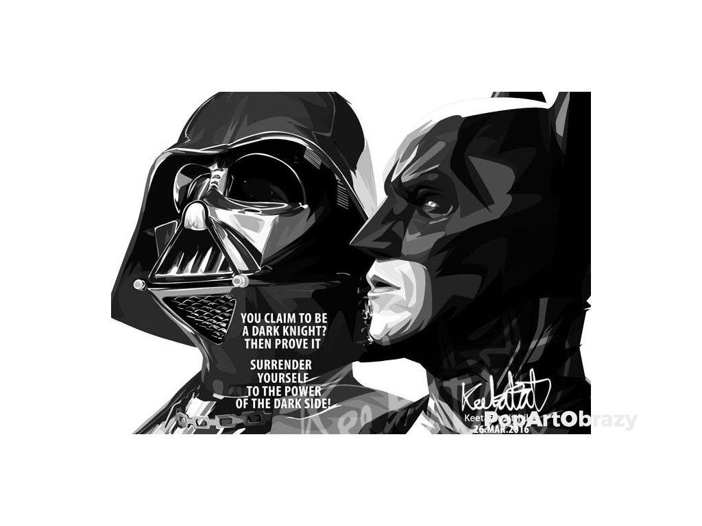 Pop Art Obrazy DARTH VADER & BATMAN - popartobrazy.cz