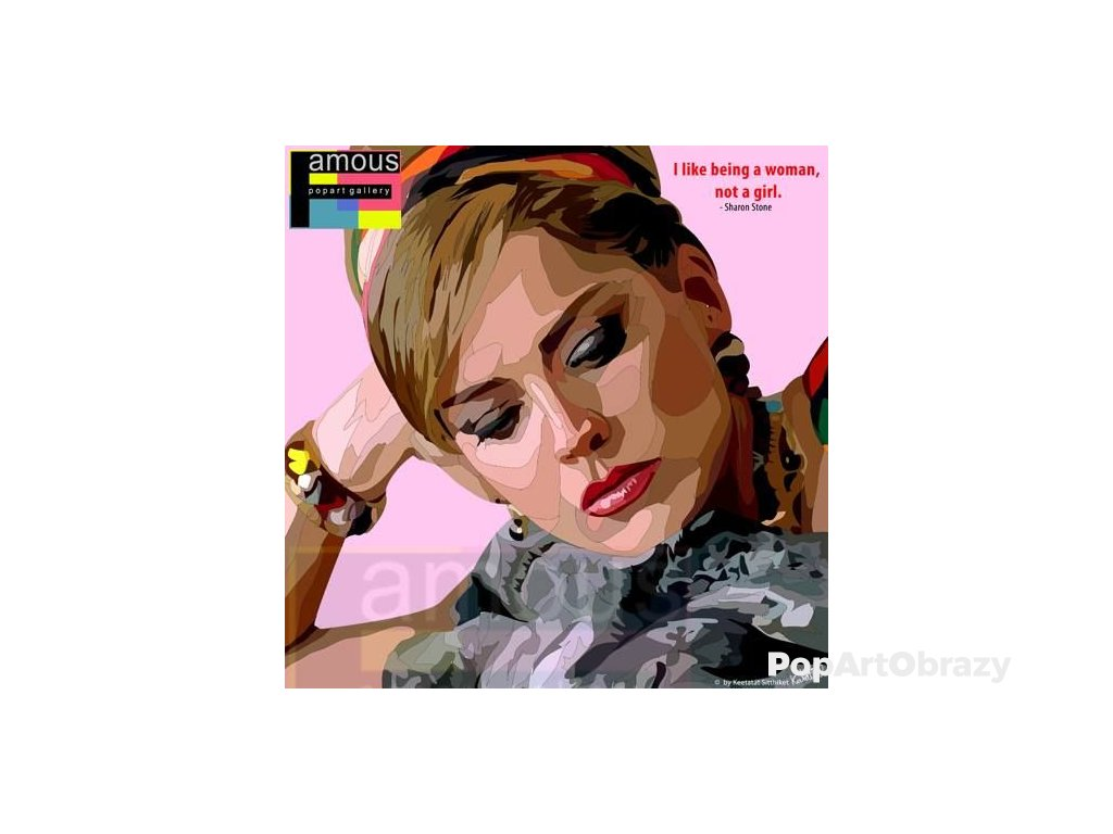 Pop Art Obrazy SHARON STONE - popartobrazy.cz