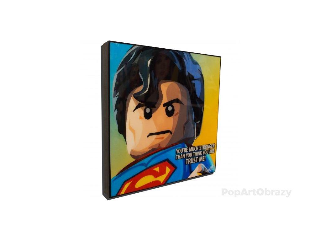 Pop Art Obrazy SUPERMAN LEGO - popartobrazy.cz
