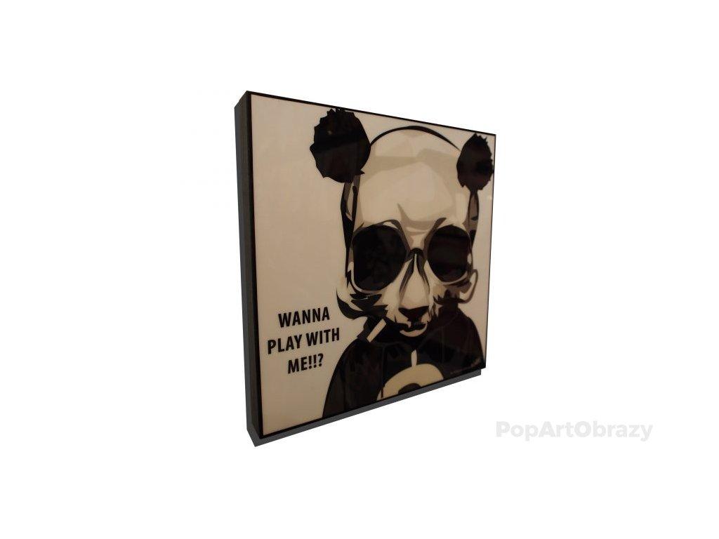 Pop Art Obrazy PANDA SMOKING - popartobrazy.cz