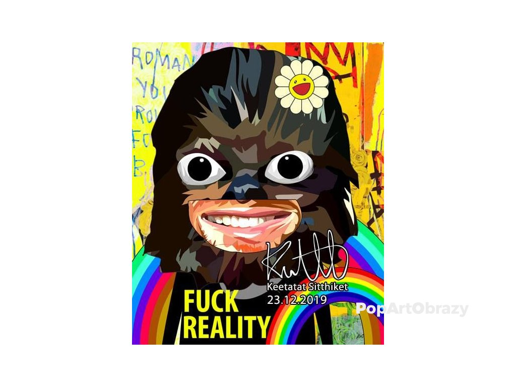 Pop Art Obrazy Hippie Chewie - popartobrazy.cz