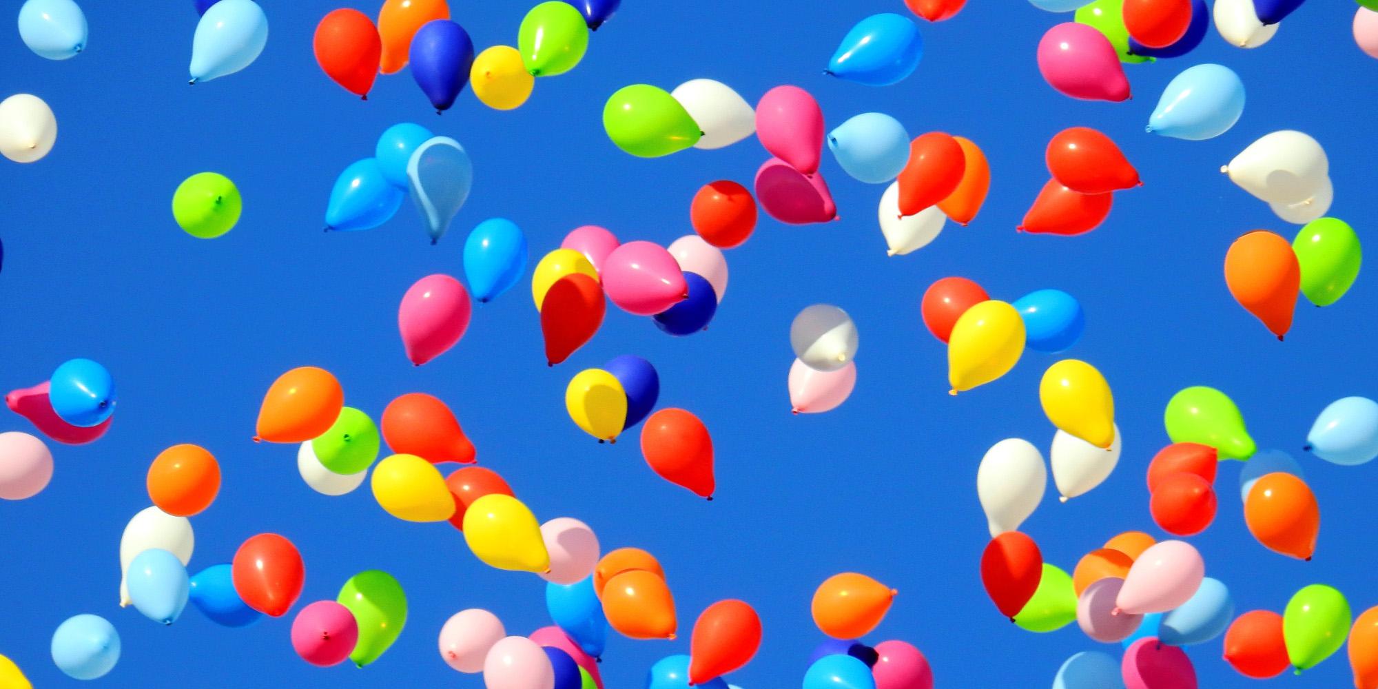 Balonky a plnění heliem
