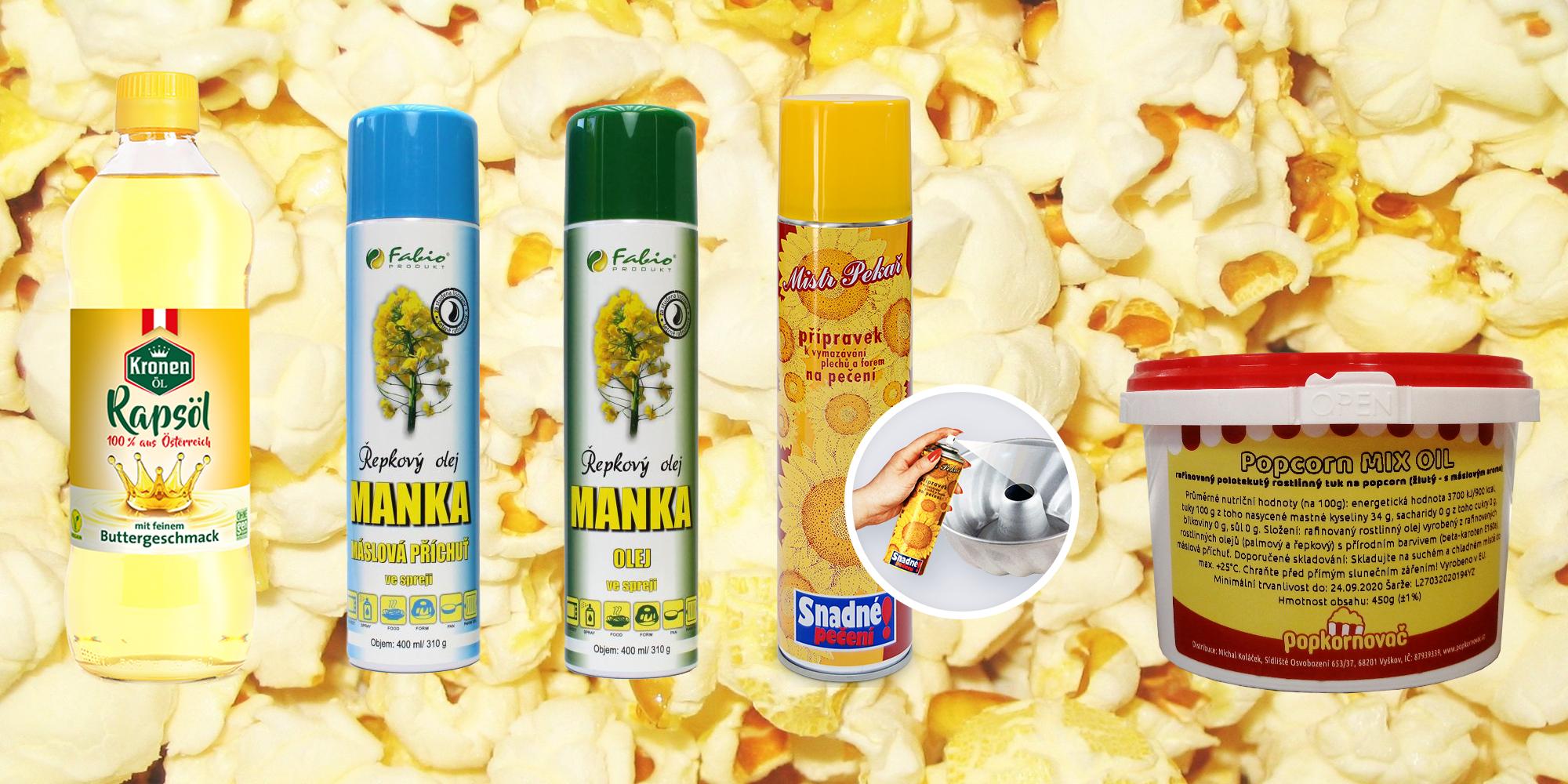 Jaký olej použít na přípravu popcornu?