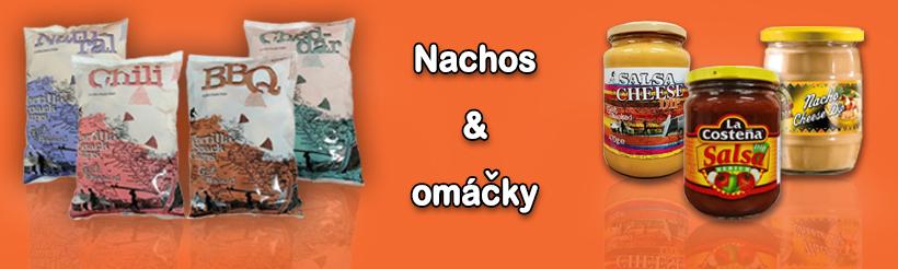 Tortilla chips (nachos) & omáčky