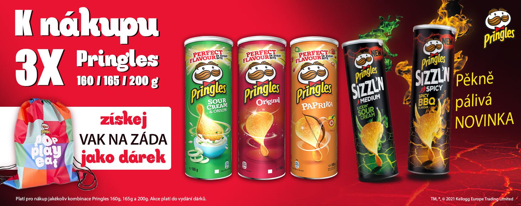 K nákupu 3x Pringles vak na záda ZDARMA