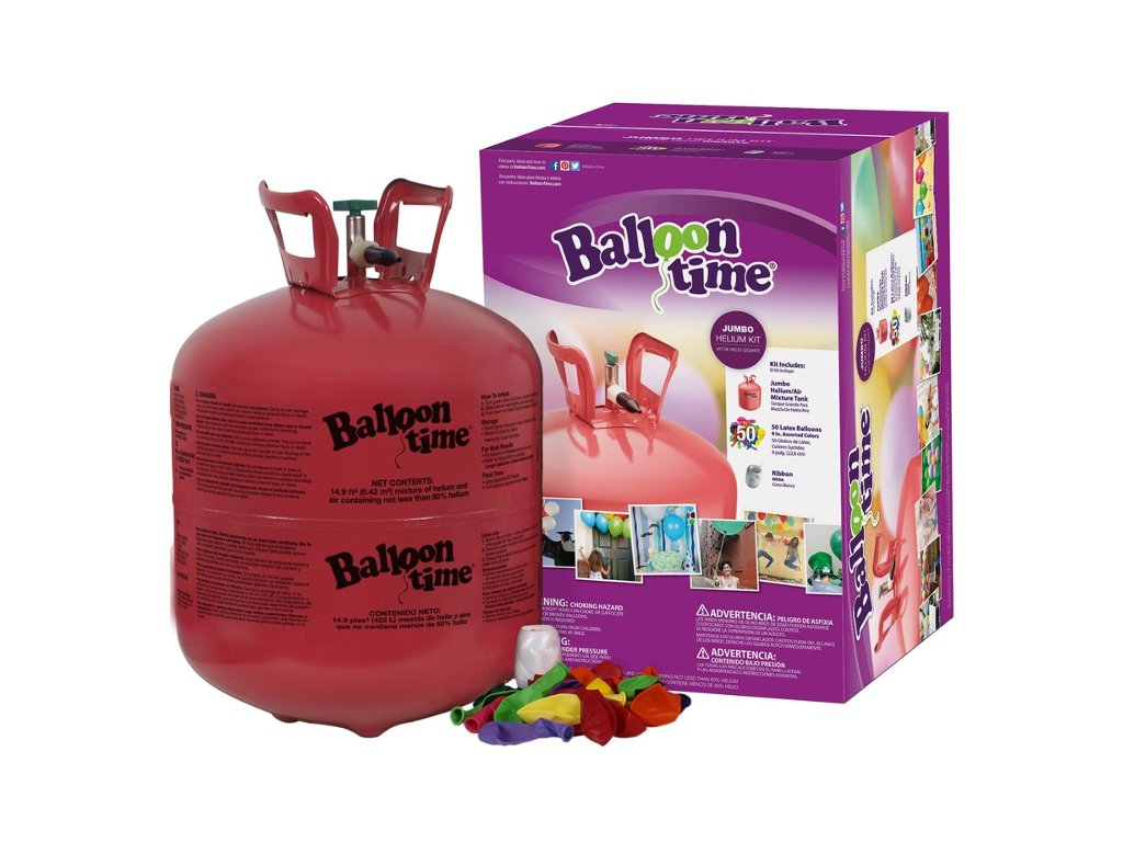 Helium do balonků Balloon Time 420L + 50 balonků