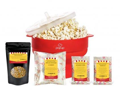Popcorn balíček do mikrovlnky (červený)