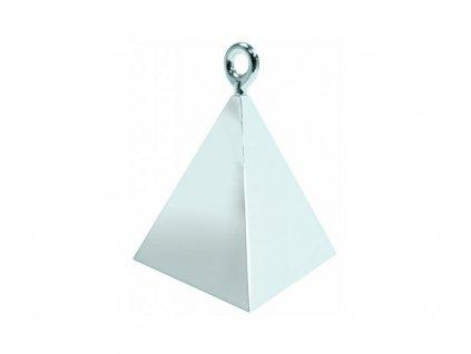 Závaží na balónky pyramida stříbrná (115g)